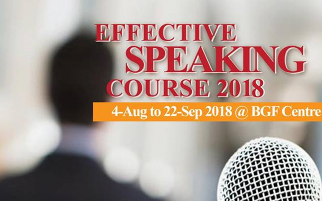 Effective Speaking Course 2018