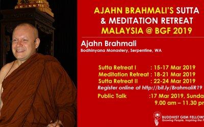 Ajahn Brahmali's Sutta & Meditation Retreat 2019