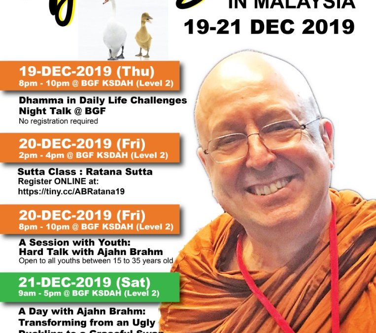 Ajahn Brahm@BGF – Public Talk – Challenges with Dhamma in Daily Life
