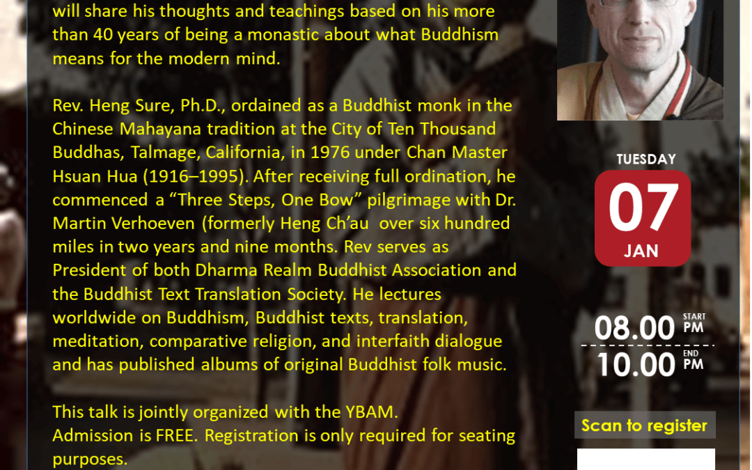 50 Years of Dharma in the West: Buddhism for the Modern Mind with Reverend Heng Sure