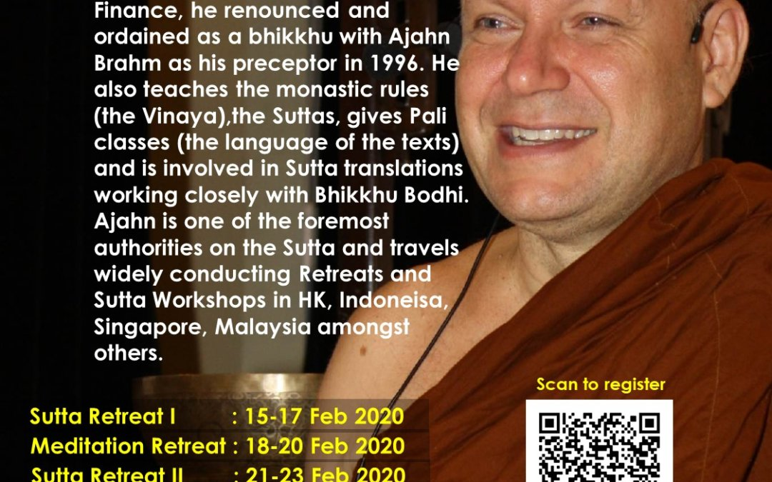 Sutta & Meditation Retreat 2020 with Ajahn Brahmali – Sutta Retreat 2