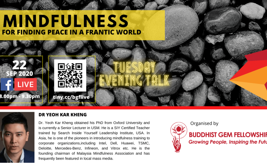MINDULNESS for Finding Peace in a Frantic World by Dr. Yeoh Kar Kheng