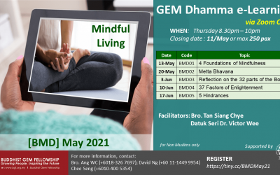 GEM Dhamma e-Learning BMD Series is Now Open for Registration